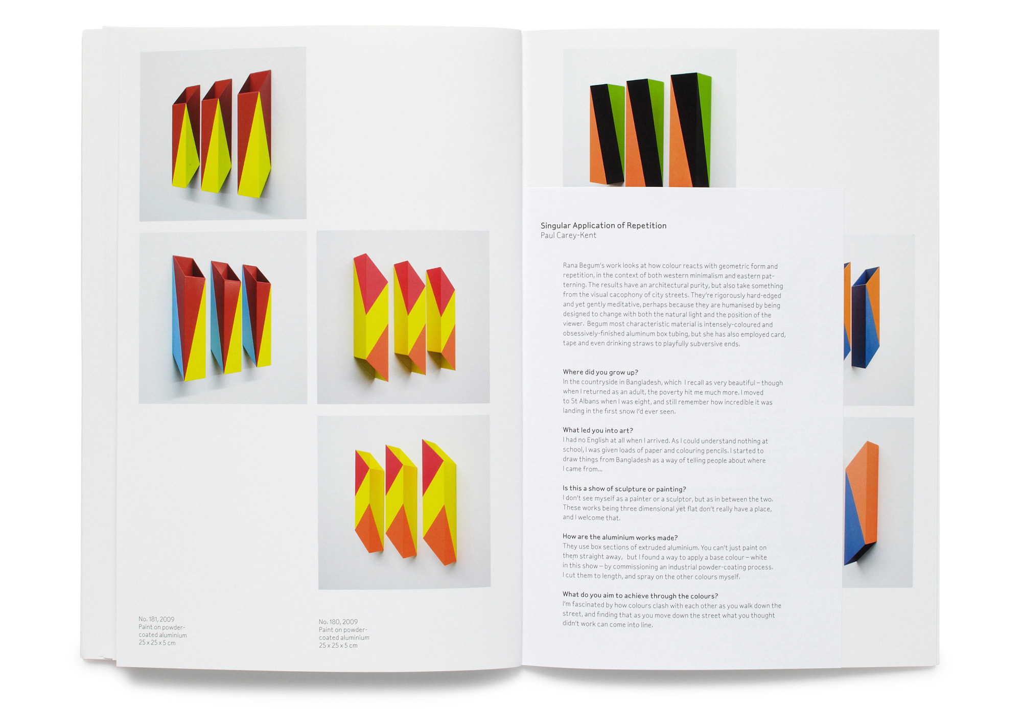 Daniel Baer – Rana&nbsp;Begum Catalogue.<i> Bischoff/Weiss Gallery</i> 9